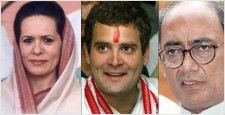 बाबा रामदेव, सोनिया गांधी, दिग्विजयसिंह, राहुल गांधी
