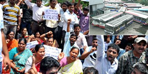 आंध्र प्रदेश, तेलंगाना, हड़ताल, हैदराबाद