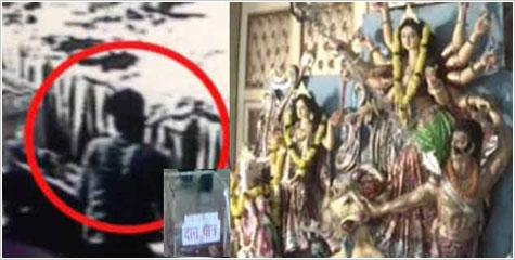 दानपात्र, जागरण,  मां की प्रतिमा, रोहिणी, सीसीटीवी
