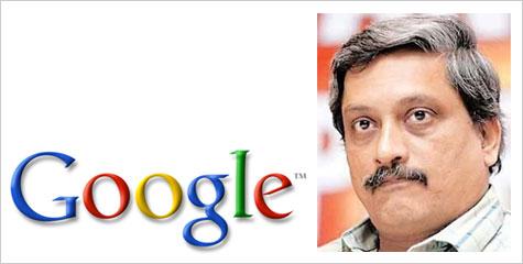गूगल, मनोहर पार्रिकर, पीएसी, प्रताप सिंह राणे