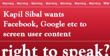 कपिल सिब्बल, सोशल साइट कंटेंट, Kapil Sibal, Sonia Gandhi, Manmohan Singh, Right to speek,